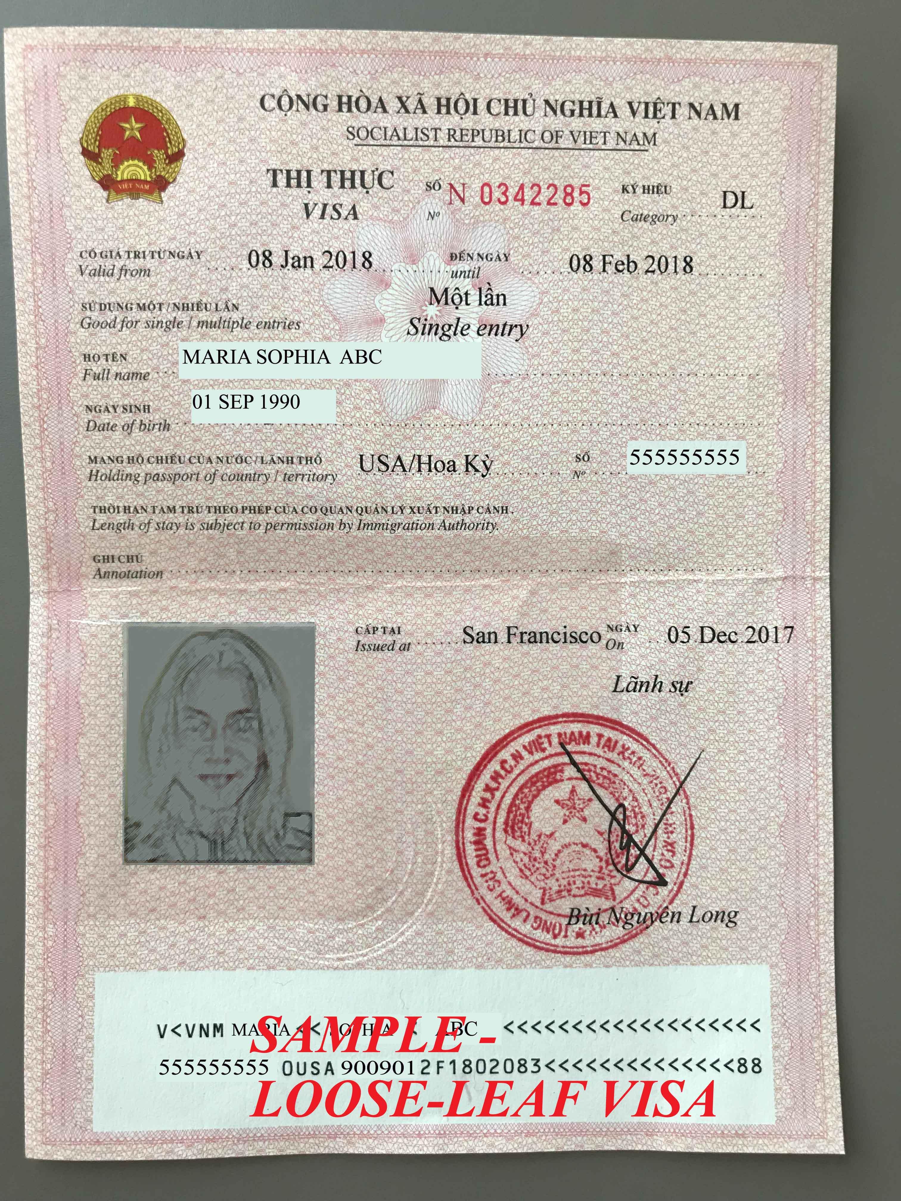 Visa - VietNam Consulate